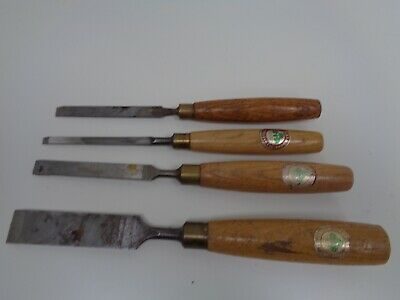 #7 Vintage Marples Wooden Handle Woodworking Chisels/Gouges x 4