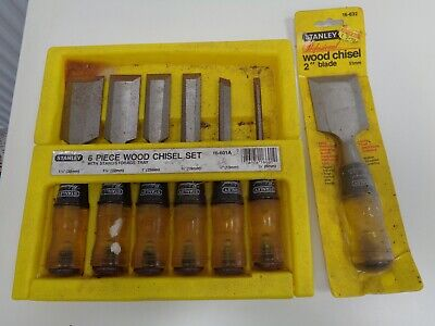 #2 Vintage Stanley Woodworking Chisels/Gouges x 6 (Set) + 1 (Sealed)