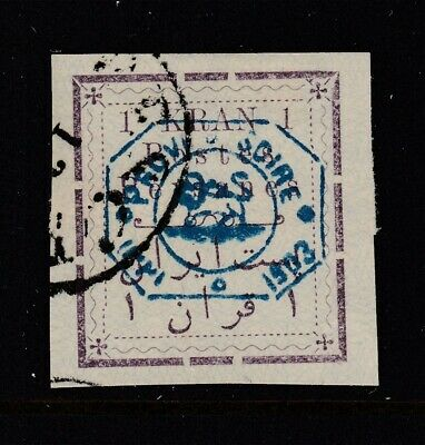 PERSIA #321 SIGNED  Overprint (USED) cv$125.00