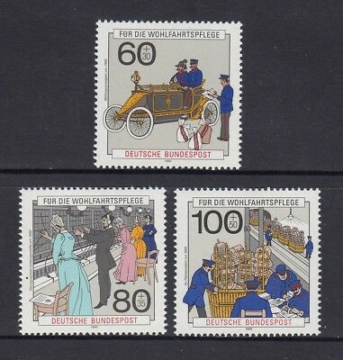 GERMANY - West 1990 HUMANITARIAN RELIEF fund  set of 3  MNH - Postal Deliveries