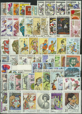 Czechoslovakia - 1972 Complete Year Set Stamps- Jahrgang - **mnh** - Cheap !!