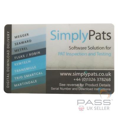 *NEW* SimplyPats Universal PAT Testing Software V7 Downloadable - 2 Licences