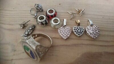 Mixed lot of scrap sterling silver jewellery
