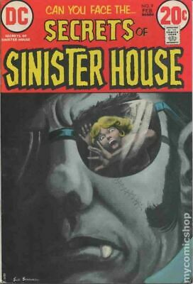 Secrets of Sinister House #9 1973 VG+ 4.5 Stock Image Low Grade