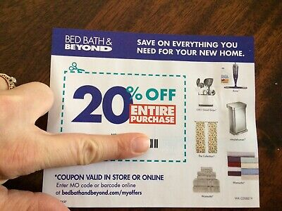 bed bath and beyond 20% off entire purchase