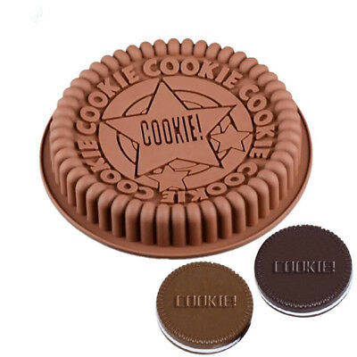 Oreo Cookie Silicone Mold Biscuit Cake Pizza Tray Mould Bakeware Baking Tool 9in