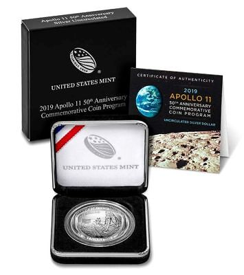 IN STOCK!!! 2019-P APOLLO 11 50th Anniv Uncirculated 99.9% Silver Dollar US MINT