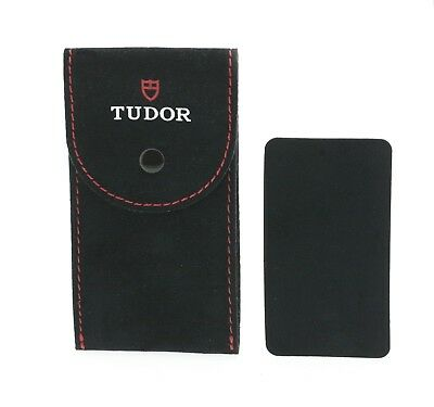 Authentic Tudor Watch Black Service / Travel Case Pouch