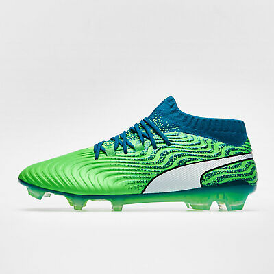 adc27ed4f Mens Puma One 18.1 Syn Firm Ground Football Boots Studs Trainers Sports  Shoes