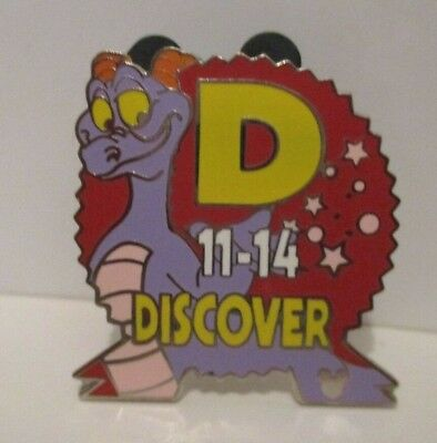 Disney World Epcot Center Figment Parking Lot Section Sign Section Pin #3/4