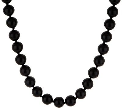 """Yellow-Plated Sterling Silver 12.0Mm Opaque Gemstone Bead 20"""" Necklace Qvc"""