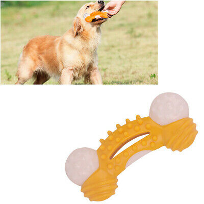 Dog Chew Toys Aggressive Chewer Indestructible Dog Tough Rubber Bone Toy Yellow