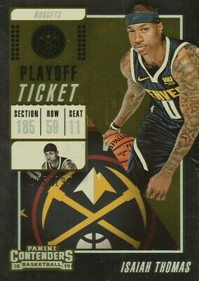 2018-19 Panini Contenders Playoff Ticket #36 Isaiah Thomas /199 Denver Nuggets