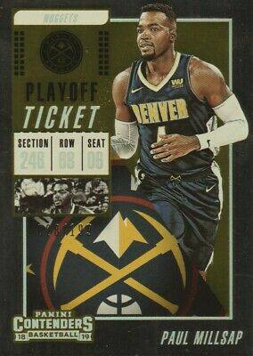 2018-19 Panini Contenders Playoff Ticket #46 Paul Millsap 028/199 Denver Nuggets