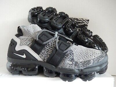 Nike Air Vapormax Flyknit Utility Moon Particle-White-Black Sz 9.5 [Ah6834-201]
