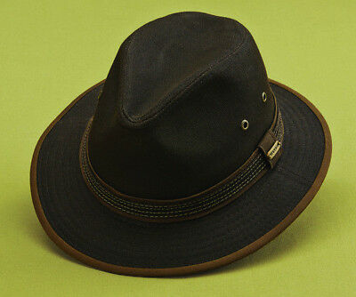 7aa48132 Stetson * Mens Brown Fedora Hat * 1 Xl * New Sun Shady Safari Rain Golf