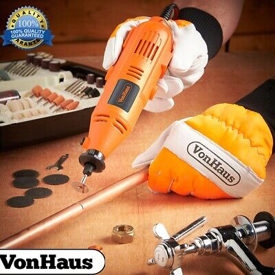 Vonhaus Rotary Multi Tool With Stand, Flexi-Shaft 135W And 40Pc Home Building