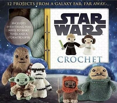 Star Wars Disney Crochet Kit, Make Yoda And Stormtrooper By Lucy Collin 2015 New