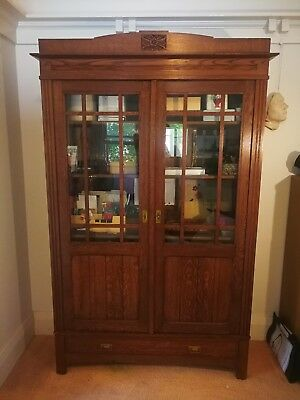Antique Cupboard / Bookcase - Baltic Pine