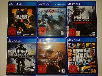 Playstation 4 Spiele FSK 18, z.b. Black Ops, God of War, Metro Redux, GTA V,...
