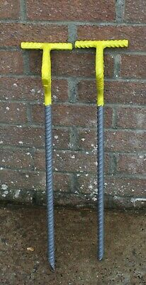 SEE PHOTOGRAPHS STRONG STEEL MOORING PINS X 2