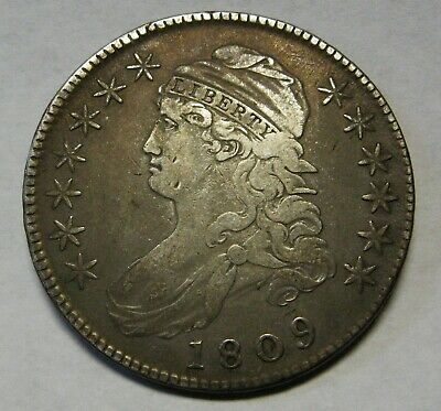 1809 Silver Bust Half Dollar Grading VF Priced Right and Shipped FREE    b1