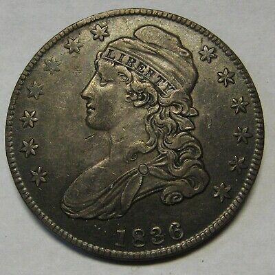 1836 Capped Bust Silver Half Dollar Grading XF Priced Right and Shipped FREE  b7