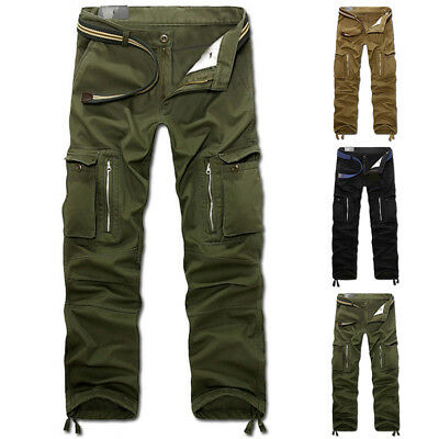 Men's Casual Military Army Cargo Multi-pocket Trousers Combat Work Sports Pants
