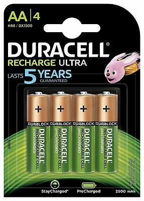 Piles Rechargeables Duracell type AA 2500mAh Recharge Ultra 1 Pack 4 Piles HR6