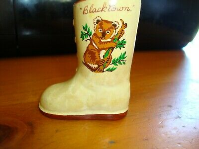 "Vintage Miniature Boot Vase, "" BLACKTOWN "" Manor Ware British Made"