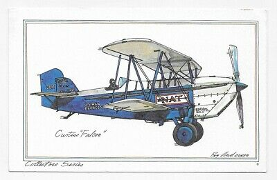 CURTISS FALCON AIRPLANE Art By ROY ANDERSEN Unposted Post Card #4093