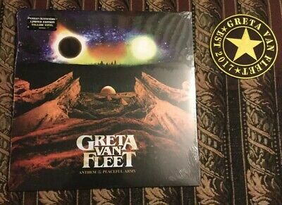 Greta Van Fleet Anthem Of The Peaceful Army Limited Edition Yellow Vinyl New