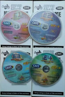 4 Scdg Set Chartbuster Essentials Vol 1,2,3,4 Karaoke Set 1800 Songs Cavs