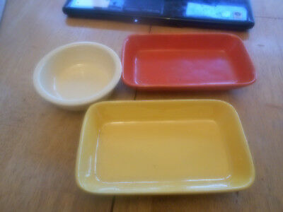 Vintage Stangl And Fiestaware Plates.