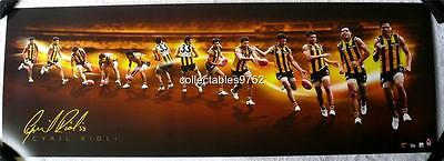 Hawthorn Cyril Rioli Signed Time Lapse Official Sports Print