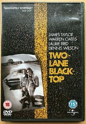Two Lane Blacktop DVD 1971 Cult Road Movie Classic starring James Taylor
