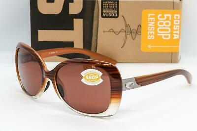 ff982813e72a NEW COSTA DEL MAR SEA FAN SUNGLASSES Wood Fade / Copper 580P Polarized EF  81 OCP