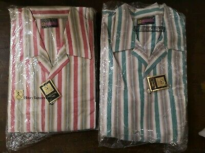 """Two Henry Bannerman Vintage Gents pyjamas 44"""" chest"""