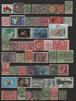 Belgium Town Cancel Lot All Different Stamp or Town