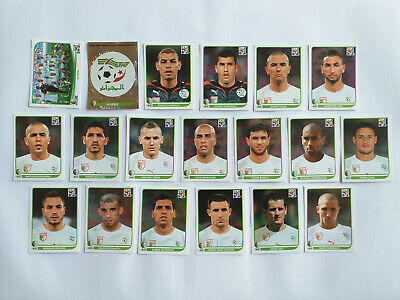 Panini Wc Coupe Du Monde 2010 19 Images Equipe Complete Set Team Algerie