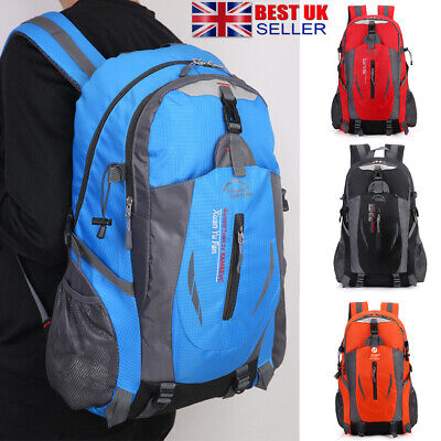 Large 40L Waterproof Travel Backpack Hiking/Camping Outdoor Rucksack Luggage Bag