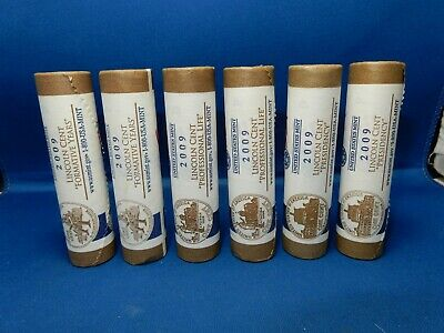 2009 P&D Lincoln Cents US Mint Wrapped 6-Roll Lot LP2 LP3 LP4