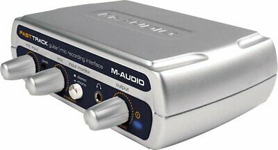 M-Audio Fast Track Guitar Mic USB External Soundcard Audio Interface - Fast Del