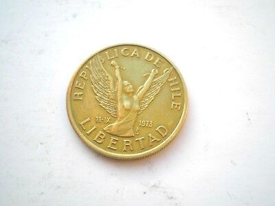 10 Pesos Coin From Chile-Dated 1982-Nice