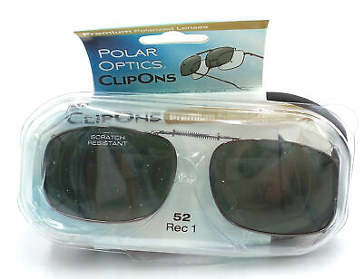 cb61ae5f62e Polar Optics Clip Ons premium Polarized glasses lenses cover W  Case 52 rec  1