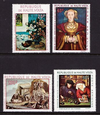 Upper Volta  1968 Airmail - Paintings - MNH set of 4 - Cat £6.00 - (138)