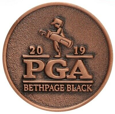 2019 PGA Championship (BETHPAGE BLACK) Large TWO SIDED -BRONZE- Golf BALL MARKER