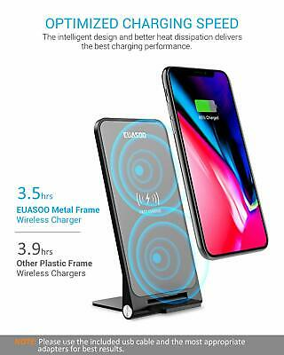 Fast Wireless Charger Qi Certified 10W Stand Samsung and iPhone