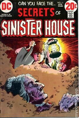 Secrets of Sinister House #11 1973 VG 4.0 Stock Image Low Grade
