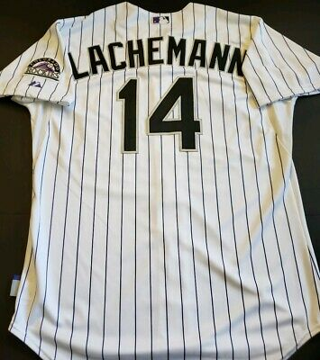 d9fee1def Rene Lachemann 2015 Colorado Rockies Game Used home opener Jersey! MLB Holo!